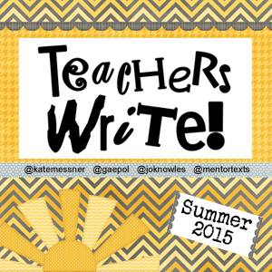 Teachers Write!!