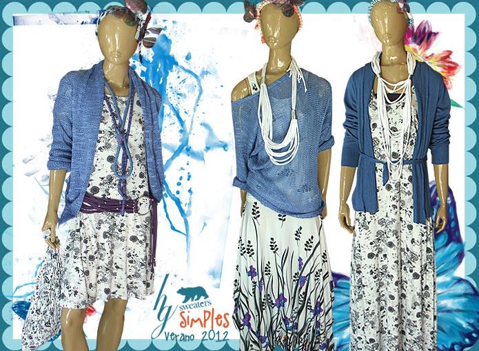 Vestidos largos de modal estampados