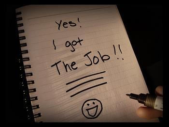 found a job