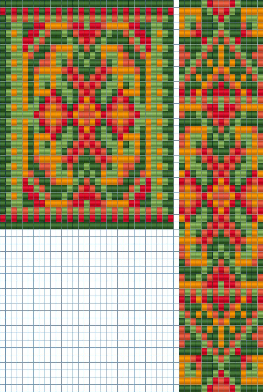 бисероплетение схемы изделий гердан схема
