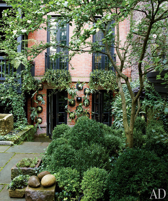 new york city townhouse garden