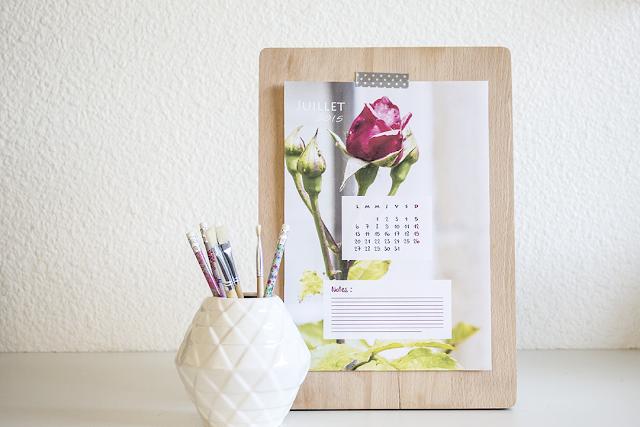 calendrier, juillet, 2015, printable, hellocoton, diy, fleuri, flower, à imprimer