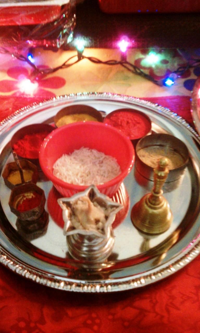 Desikalakar ganapati decorations 2011 for Aarti thali decoration ideas for ganpati
