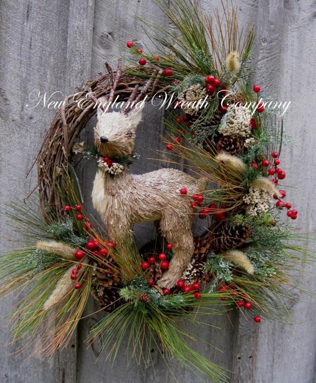 el blog de la navidad  coronas de bienvenida rusticas y naturales