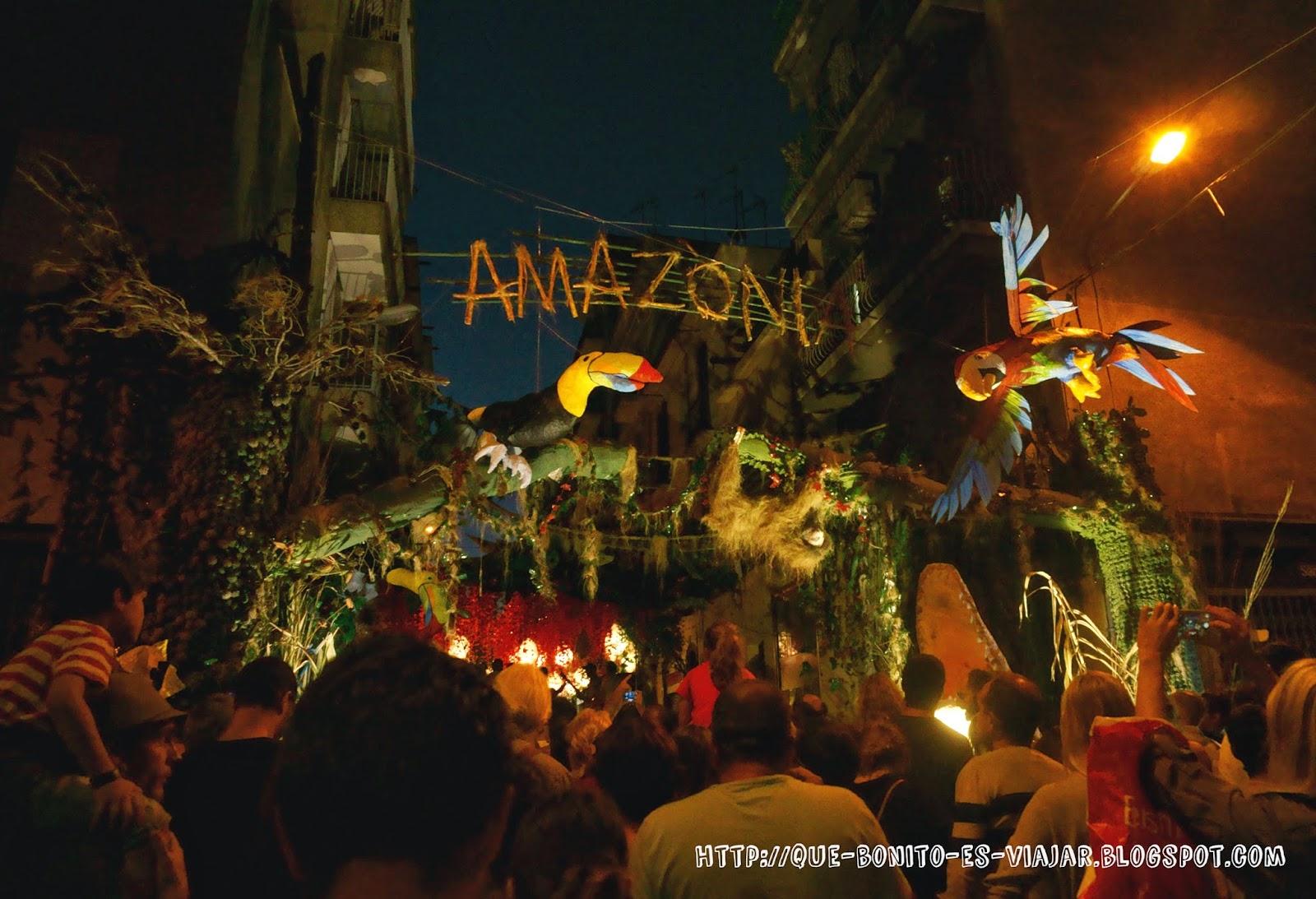 Fiestas de Gracia en Barcelona