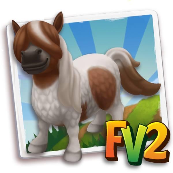 Fv2 piebald shetland mini horse prized adult baby for Farmville 2 decorations