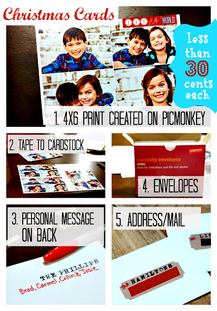 making your own christmas photo cards