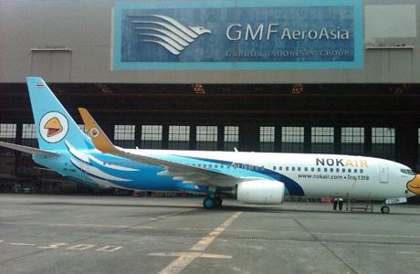 Pesawat NOK Air di hanggar GMF AeroAsia