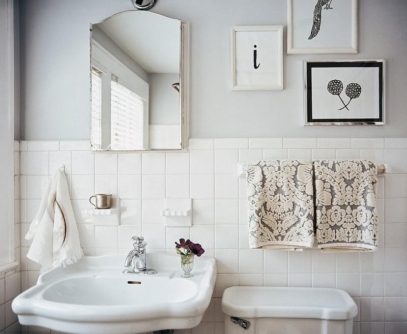 espejo vintage en baño