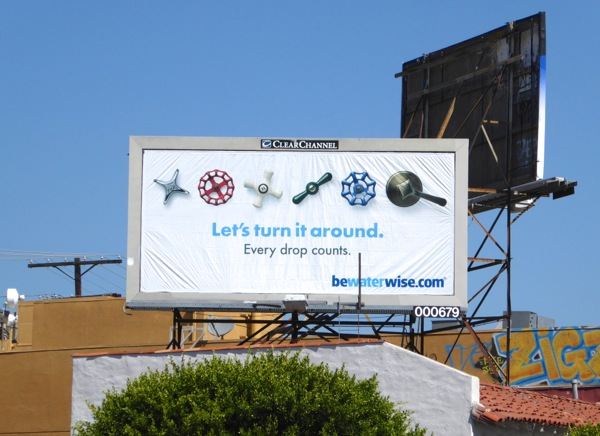 Let's turn it around Be water wise billboard