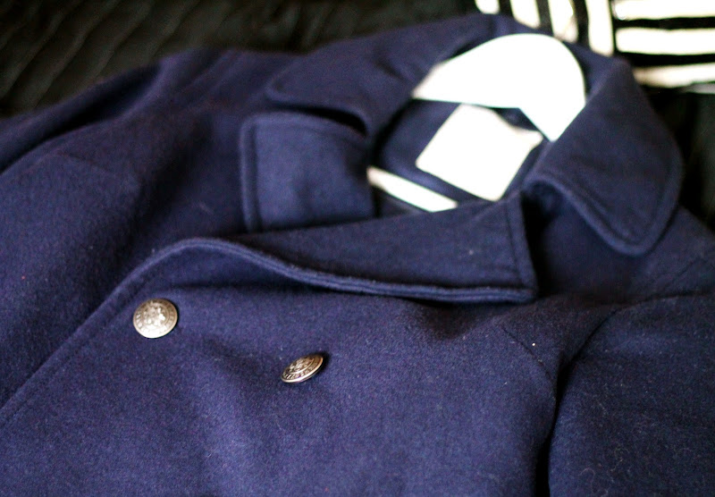 navy coat from Springfield
