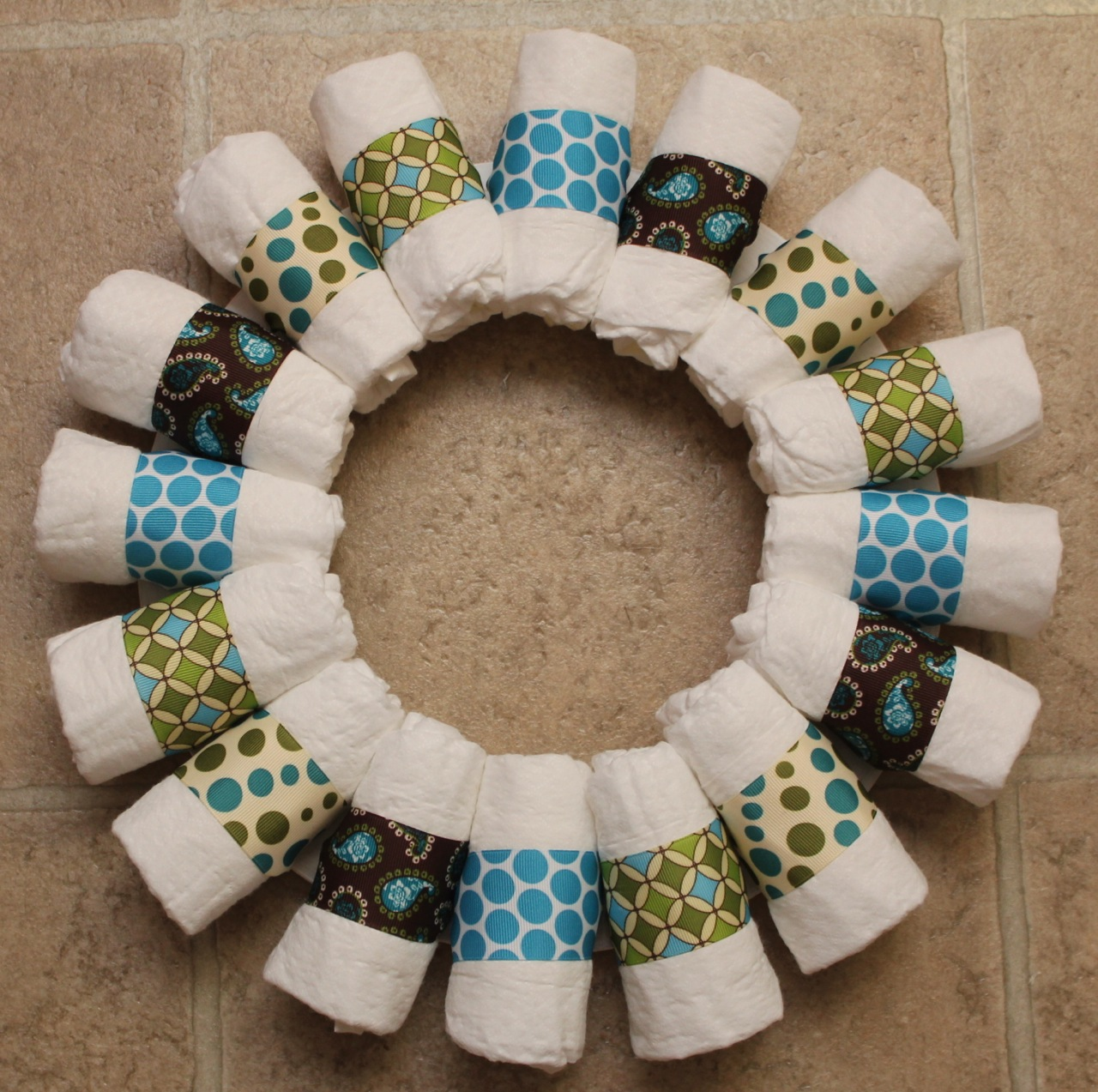 Baby Shower Wreath Images ~ Sew in love diaper wreath tutorial