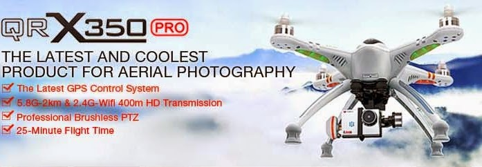 كاميرا طائرة تقنية رائعة QR X350pro