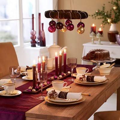 Fotos de decoração de Natal vermelha e dourada