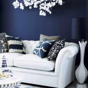 My Mini House of Style: Navy & White Living Rooms