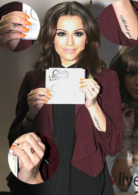 cheryl cole arm tattoo design