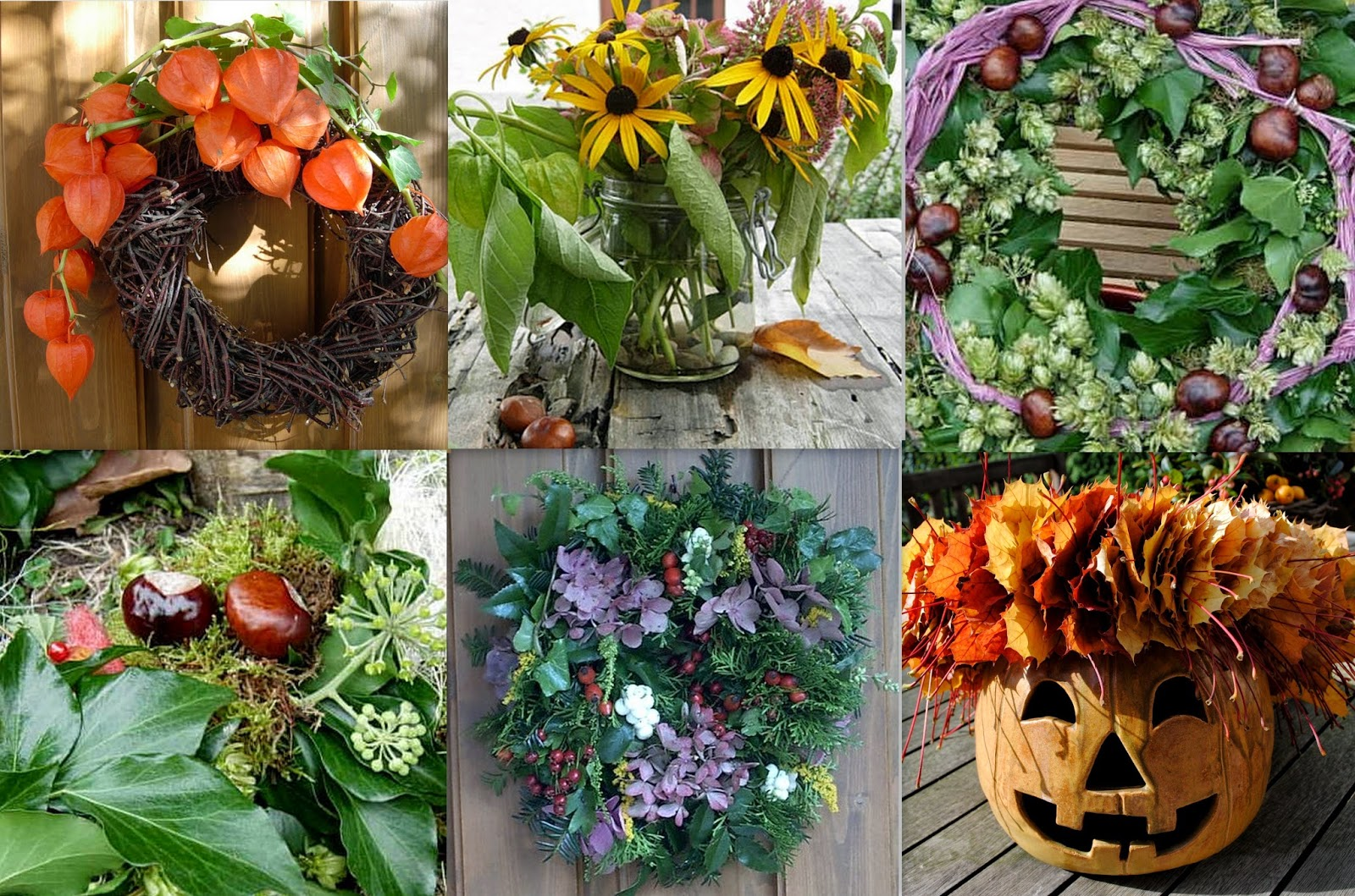 Früchte des Herbstes als Deko