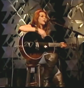 Gretchen Wilson dons Brown Leather OVER THE KNEE BOOTS (gretchen wilson )