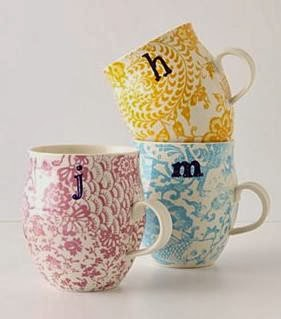 i have a mug for each letter of my initials i look forward to my nightly lavender tea in my m mug they also make perfect gifts for friends and family