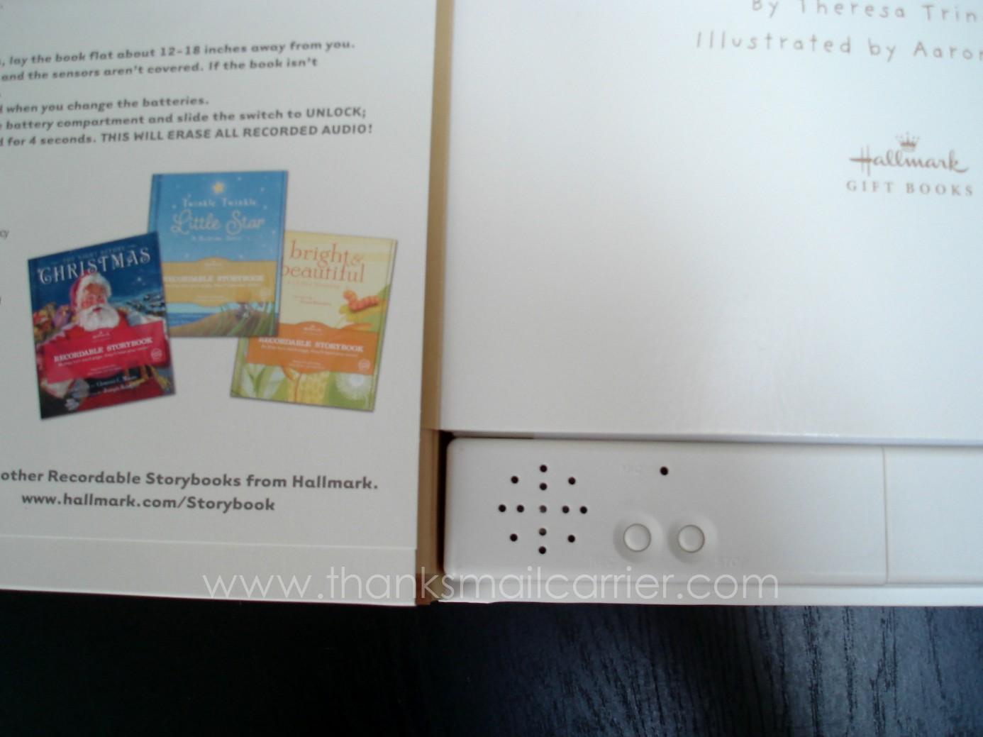 hallmark recordable books instructions