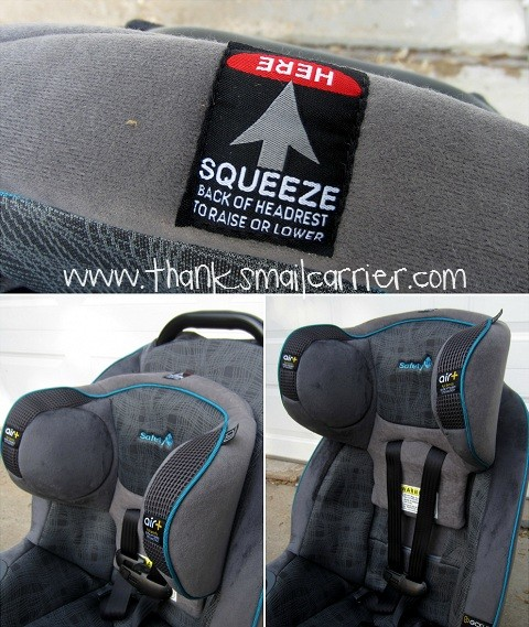 car seat adjustable headrest
