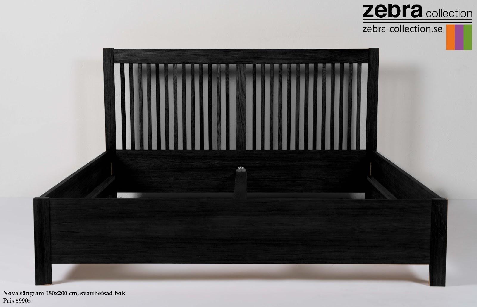 Zebra Collection VäLKOMMEN Nova sängram SVART