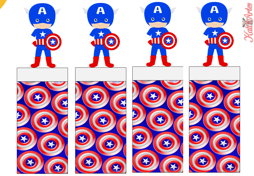 captain america free printable original nuggets wrappers oh my