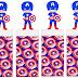 Capitán América: Envoltorios Especiales para Golosinas, para Imprimir Gratis.