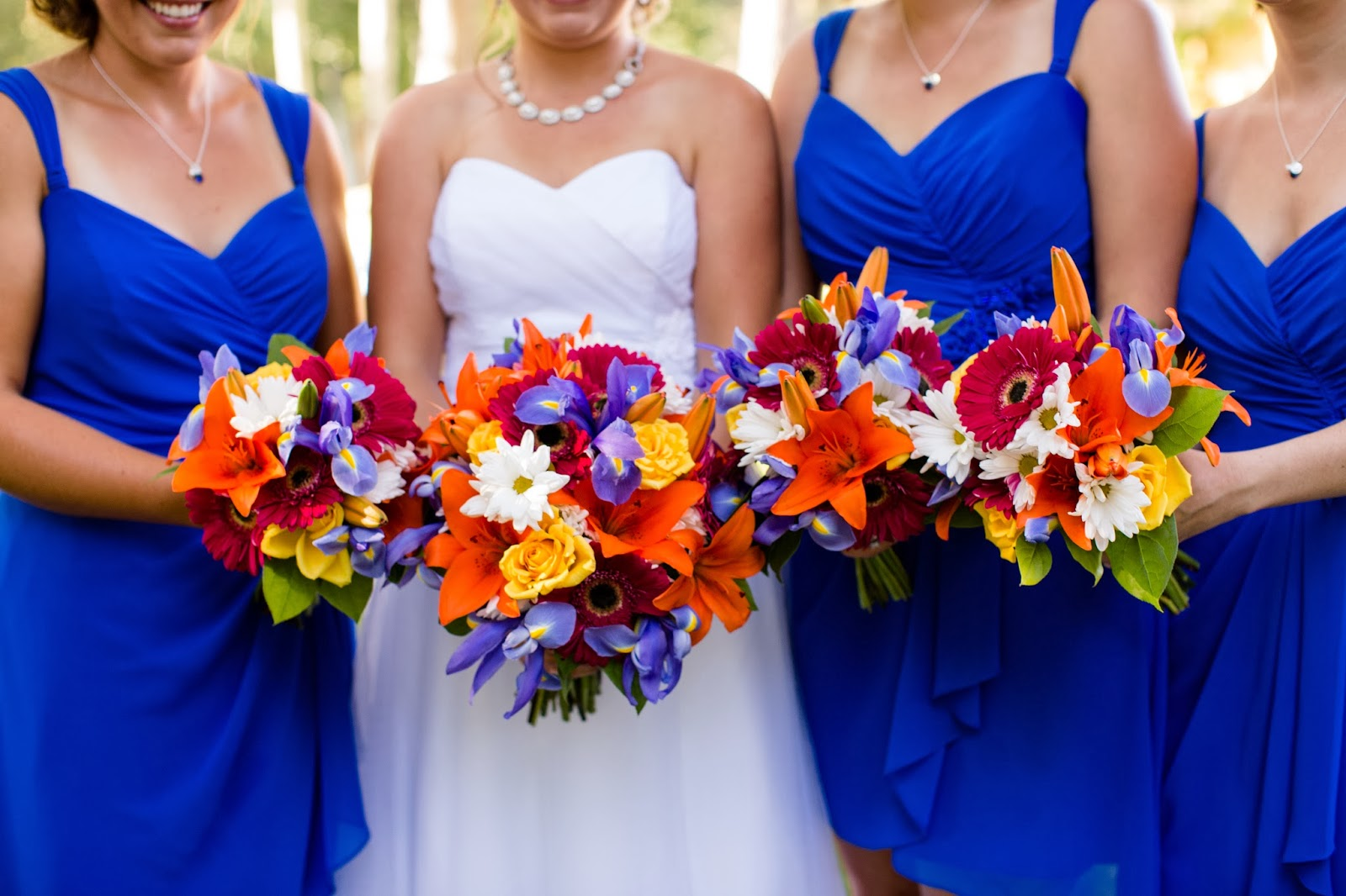 bright bridesmaids // Huong Forrest Photography // Take the Cake Event Planning