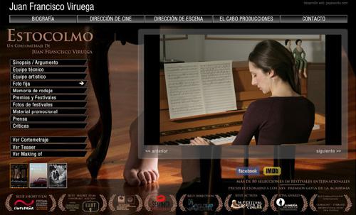 página web de Juan Francisco Viruega: director de cine, televisión, director de escena y productor