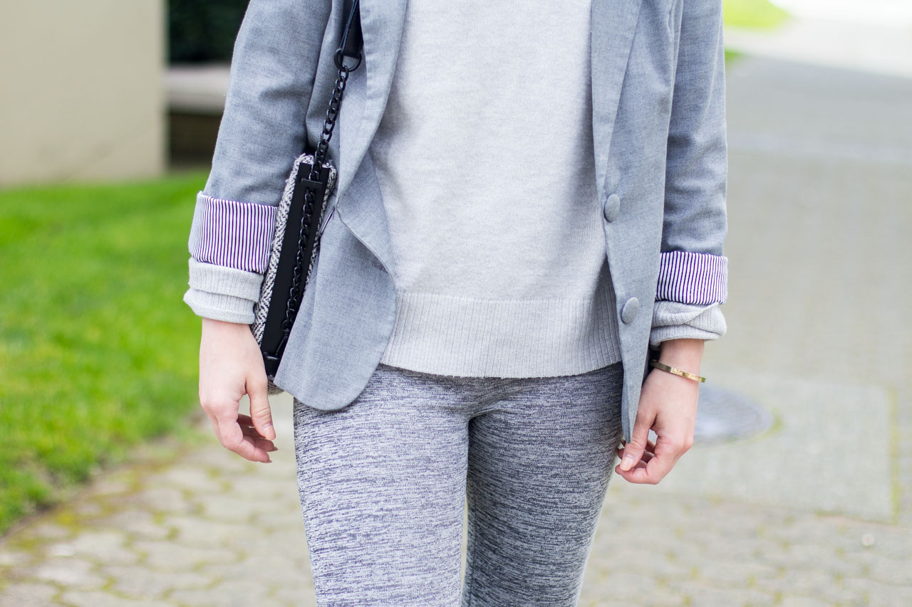 All grey outfit - spring ootd - Canadian Fashion and Style Blog