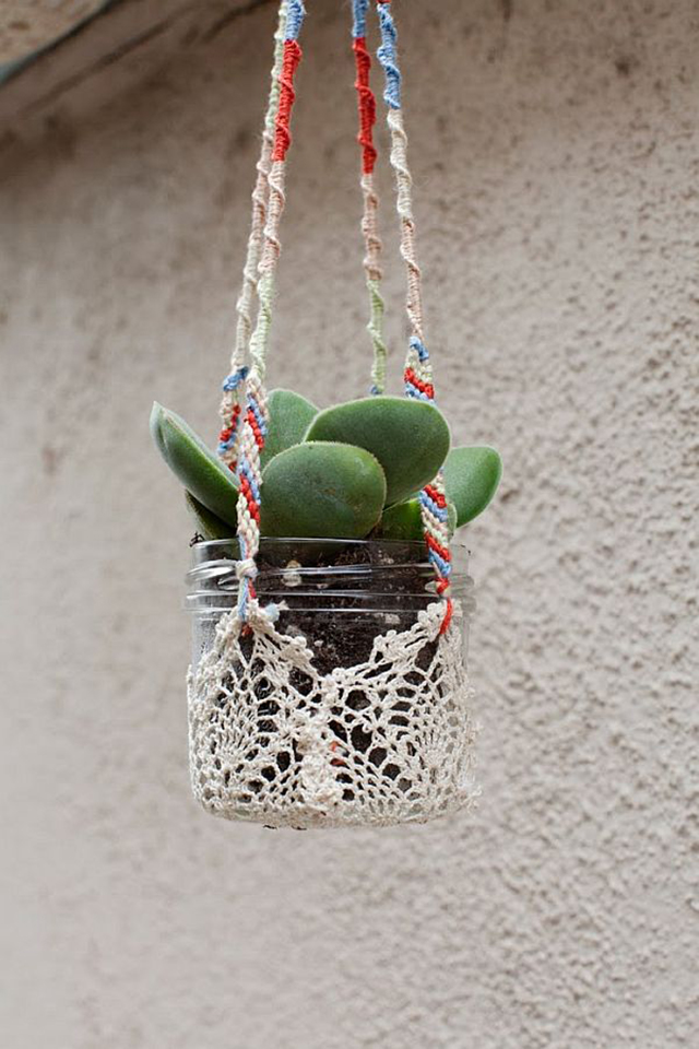 8 cacti inspired projects little things blogged for Colorful hanging planters