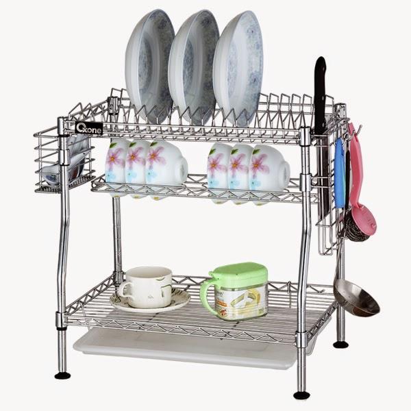 Ox 967 rak piring dapur oxone stainless situs for Harga kitchen set stainless steel