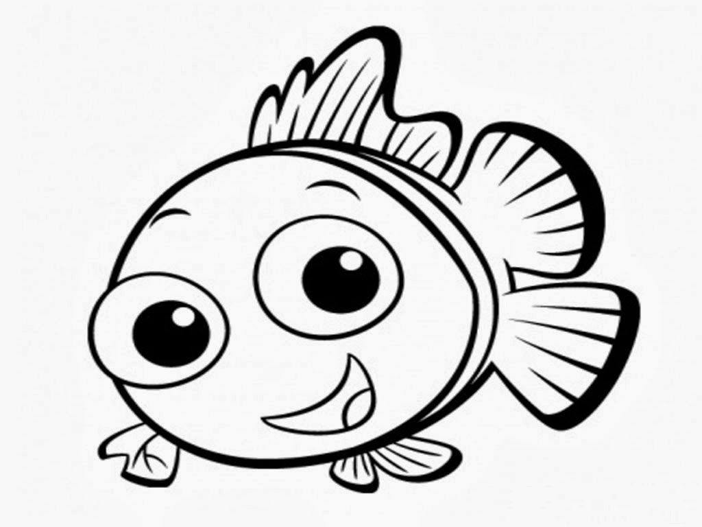 cute cartoon fish coloring pages - photo#34