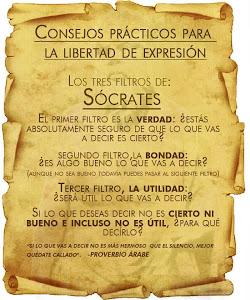 LOS TRES FILTROS DE SÓCRATES