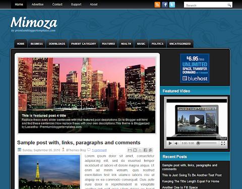 Mimoza Blogger Theme
