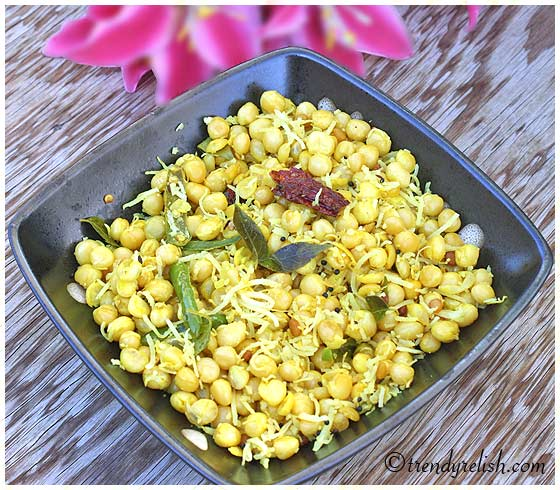 Garbanzo Bean Sundal (Chickpea Salad)