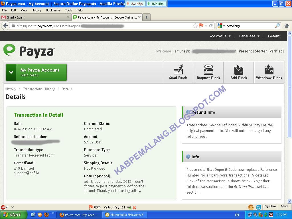 adf.ly Pembayaran tanggal  6 September 2012