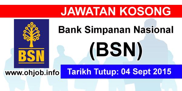Jawatan Kerja Kosong Bank Simpanan Nasional (BSN) logo www.ohjob.info september 2015