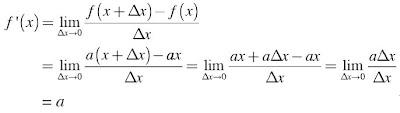 turunan fungsi f(x) = axn