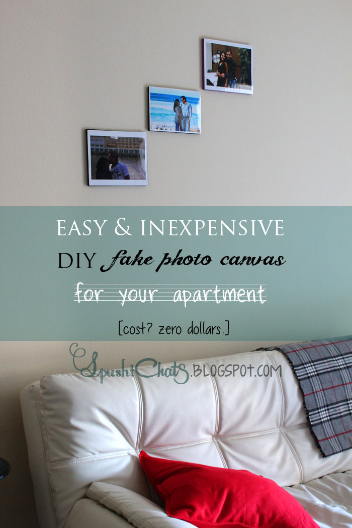 SpushtChats | Wall decor idea: fake photo canvas