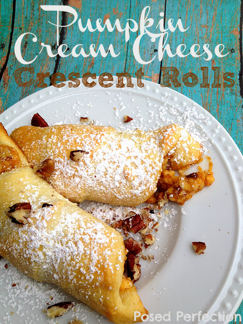 Pumpkin Cream Cheese Crescent Rolls