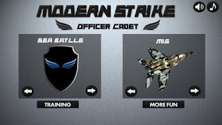 Screenshots of the Modern Army Strike for Android tablet, phone.