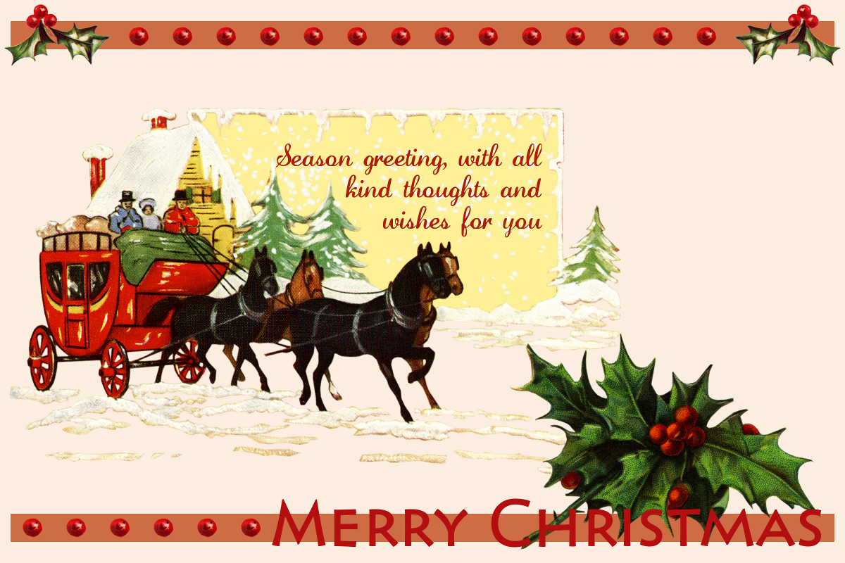 Anne s creative cornucopia quot old fashioned christmas quot postcard