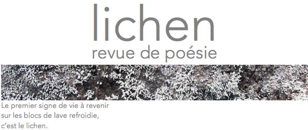 Lichen - Revue de Poésie