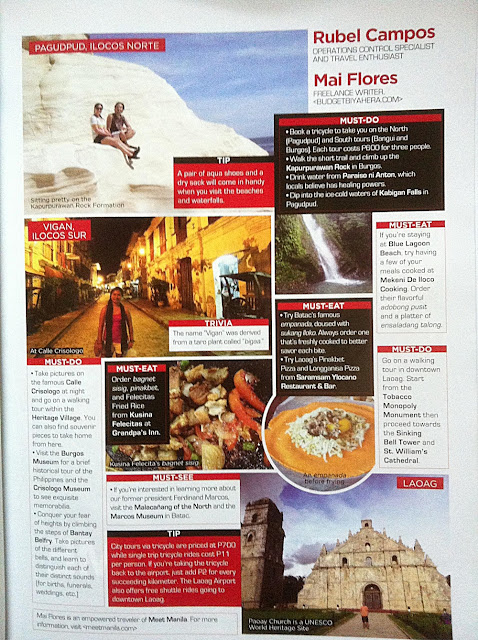 An excerpt of Mai's article in Travel Magazine