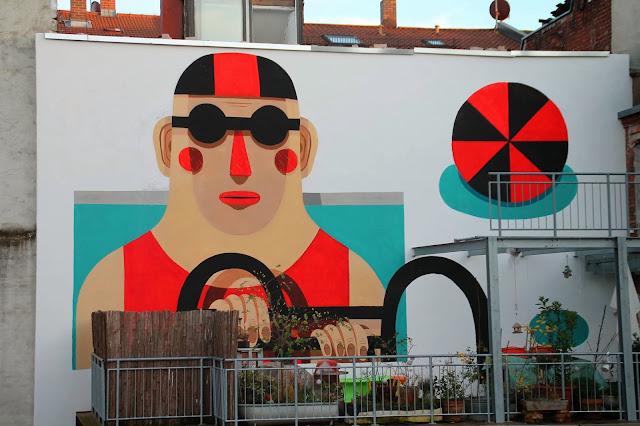 Street Art By Italian Muralist Agostino Iacurci Somewhere In Nuremberg, Germany. 1