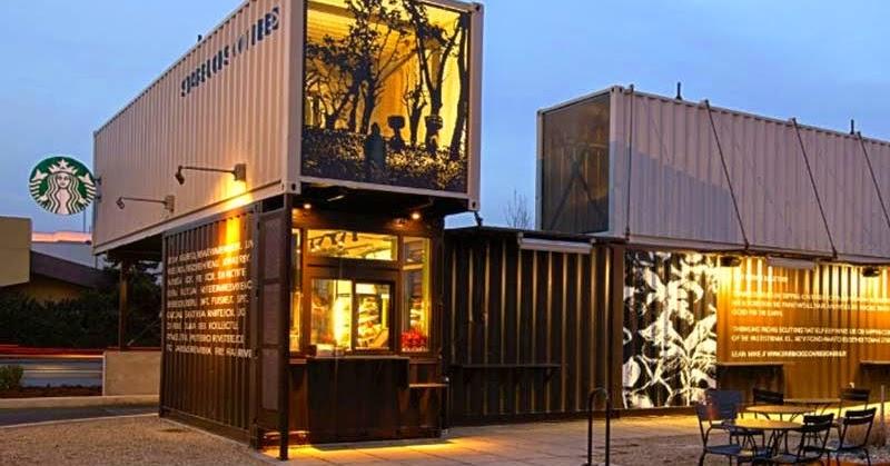 Casas contenedores starbucks crea un auto caf con - Casas contenedores espana ...
