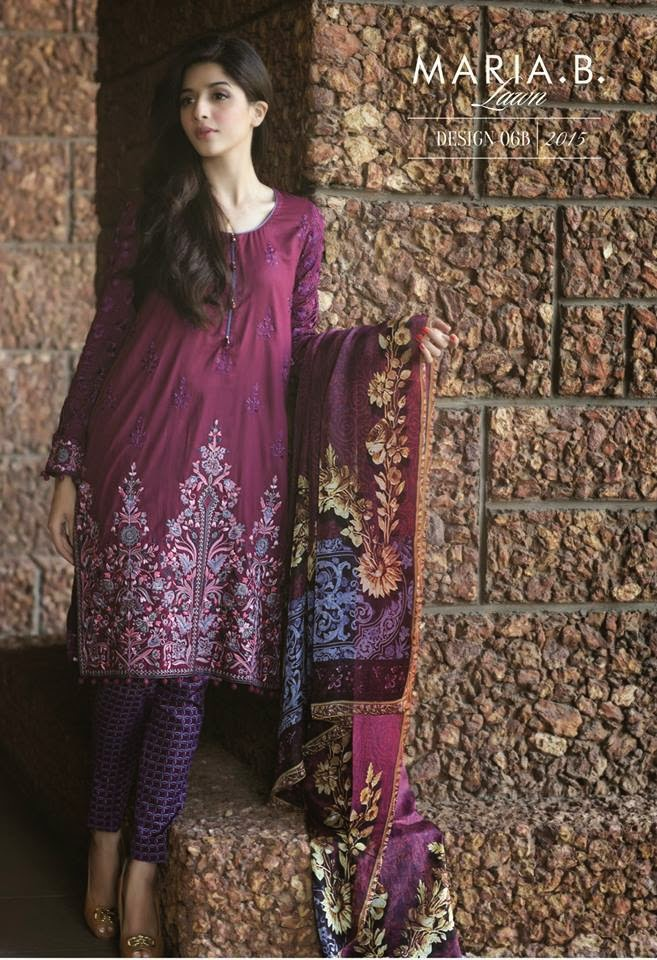 Maria b latest lawn 2015 collection