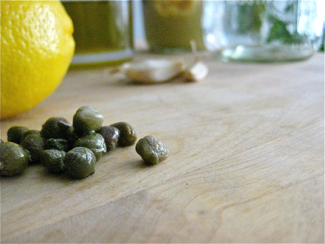 read an article featuring Chef April Bloomfield's lemon-caper dressing ...